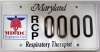 Maryland RCP License Plate_AARC Member Rate